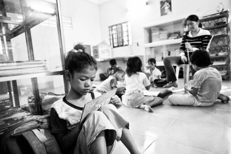 deti v House of Family v Kambodži