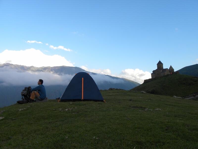 V horách v Gruzínsku