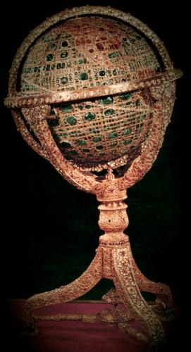 Glóbus z 35kg zlata a 51366 drahokamov v Iráne