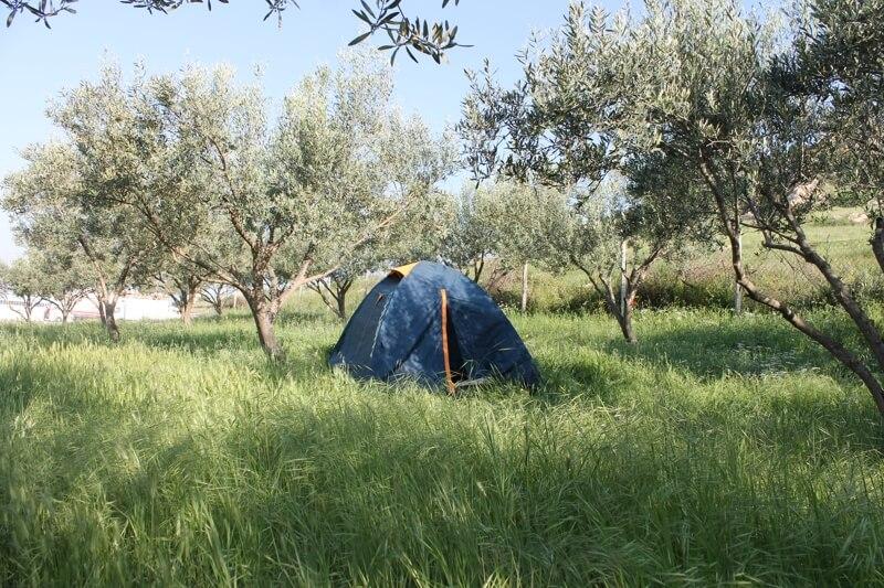Stanovanie v záhrade v Grécku