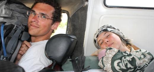 v Albánsku v aute