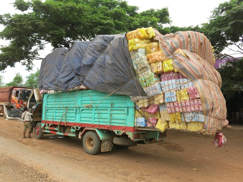 Plne nalozeny kamion