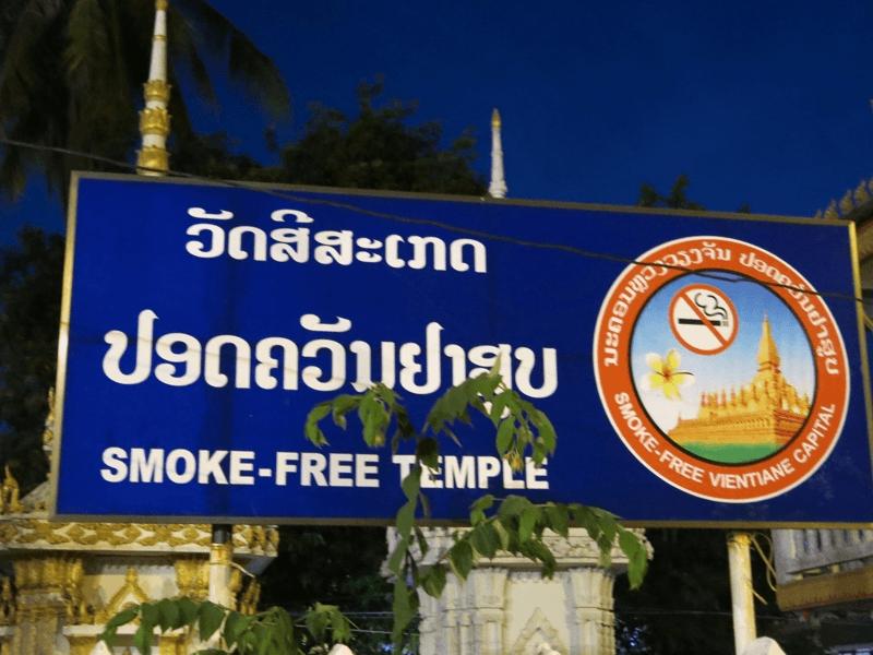 Kláštor bez cigariet v Laose