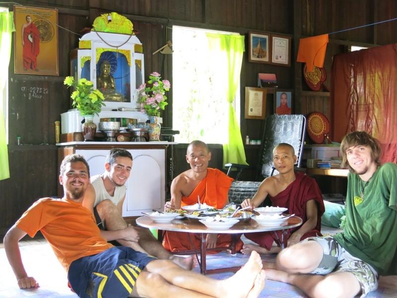 Na návšteve v kláštore v Mjanmarsku