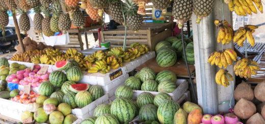 Ovocie na trhu v Ázii