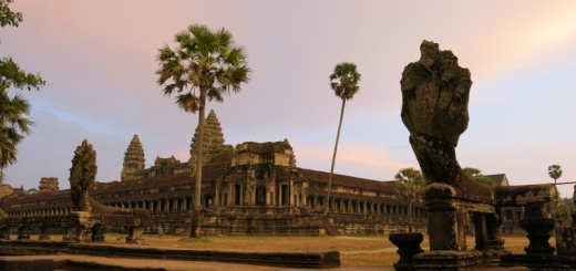 Angkhor Wat pri západe slnka