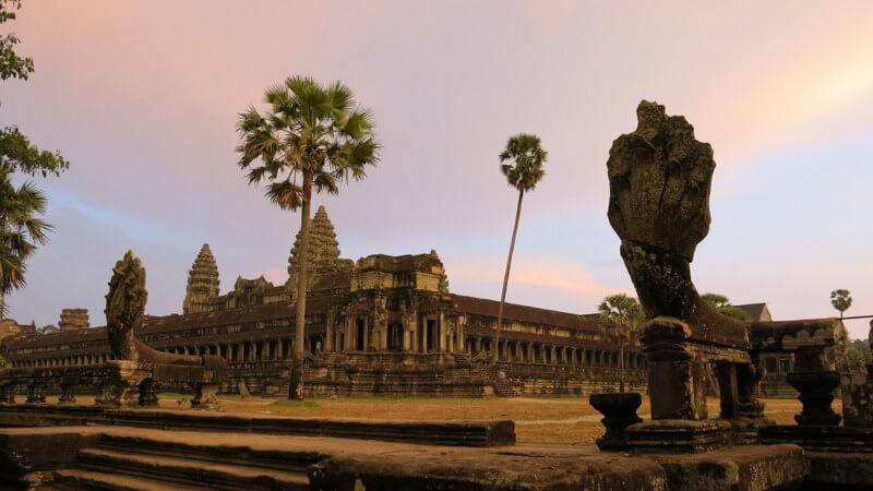 Angkhor Wat, Kambodža - pri západe slnka