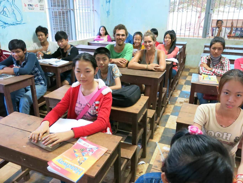 V škole v Kambodži