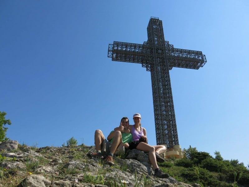 66 metrový kríž nad Skopje