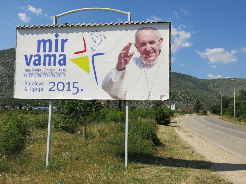 pápež v Sarajeve
