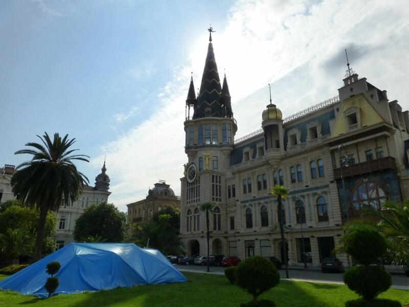 Protest v Gruzínskom Batumi