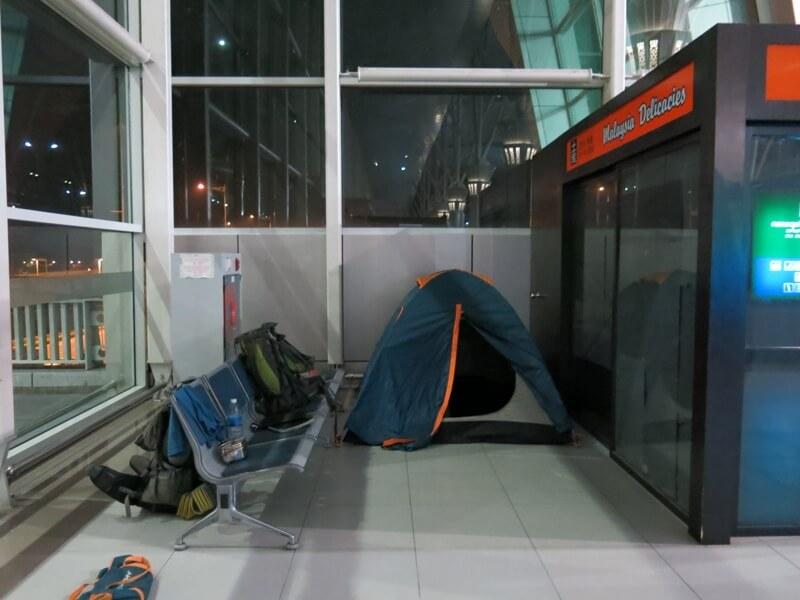 Stanovanie na letisku v Kota Kinabalu v Malajzii